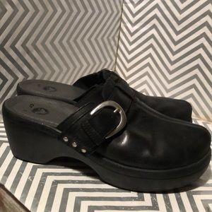 Crocs 15513 Comfort Clogs Wedge Slip on shies 8